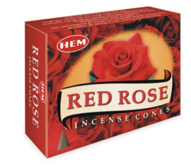 Hem wierookkegels Red Rose