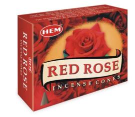 Hem wierookkegels Red Rose