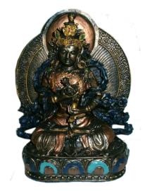 Tara met achterblad koperkleurig 21 cm hoog