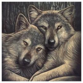 Loyal Companions - wandbord Lisa Parker - 28 x 28 cm