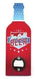 Flessenopener Ice Cold Beer - 20 cm hoog