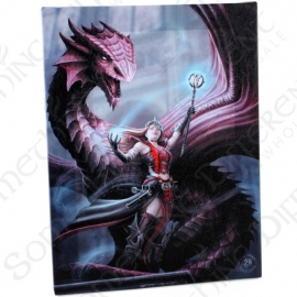 Scarlet Mage - wall plaque by Anne Stokes - 25 x 19 cm