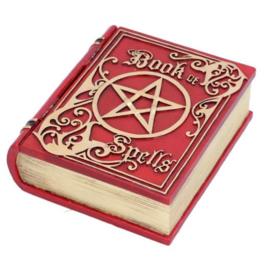 Book of Spells boekendoos rood 15.5 cm