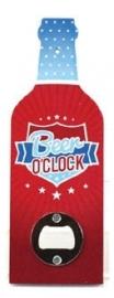 Flessenopener Beer o'clock - 20 cm hoog