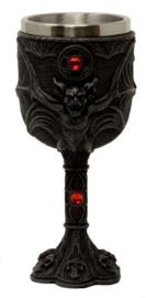Kelk Vampier Vleermuis Gothic Horror - 17 cm hoog