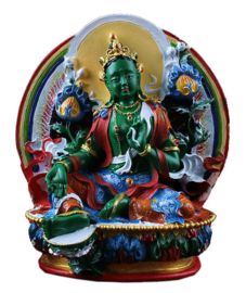 Beeld Tibetaanse Groene Tara Bodhisattva 11.5 x 10 cm