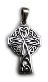 925 zilveren kettinghanger Keltisch Kruis 4 x 2 cm