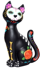 Sugar Kitty - Day of the Dead Kat - 26 cm hoog