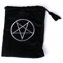 Tarot kaarten opbergtas pentagram zwart