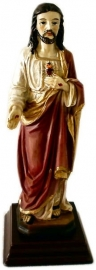 Sacred Heart of Christ figurine 13 cm high