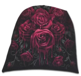 Spiral Direct - Blood Rose - bloedende rozen - katoenen muts - beanie