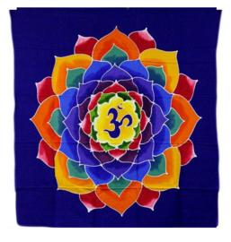 Batik wandkleed Bloem van het Leven - 110 x 98 cm