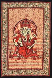 Bedsprei Ganesha rood bruin 150 x 210 cm (1 pers)