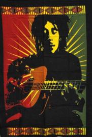 Wandkleed Bob Marley Guitar - 80 x 110 cm