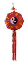 Yin yang gelukshanger groot - 30 cm doorsnee 90 cm lang