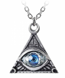 Alchemy Gothic ketting - Eye of Providence - 42 x 44 mm