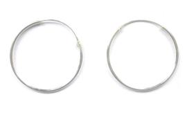 925 sterling zilveren hoep oorbellen 4.5 cm doorsnee