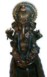 Wierookhouder Ganesha brons - 10.5 x 27.5 cm