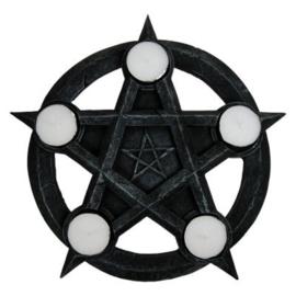 Theelichthouder Wicca Pentagram - 26 cm doorsnee