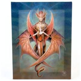 Copper Wing - wandbord van Anne Stokes - 25 x 19 cm