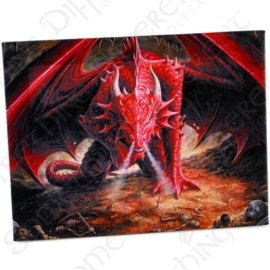 Dragon's Lair - wandbord van Anne Stokes - 25 x 19 cm
