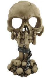 Deliberation - doodskop skelet theelichthouder - 15.5 cm hoog