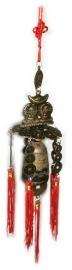 Feng Shui Dubbele Boeddha deurbel / windmobiel