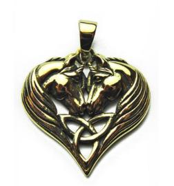 Ketting brons Unicorn Heart - dessin Lisa Parker - 2.5×2.7cm
