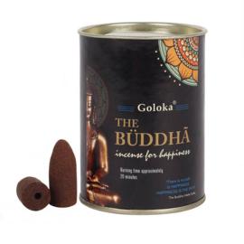 Goloka Boeddha Backflow Wierookkegels - blik 9.5 cm hoog