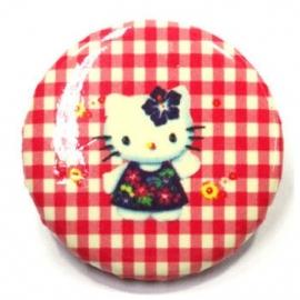 Retro button Kitty