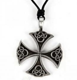 Pewter hanger Keltische kruis 6