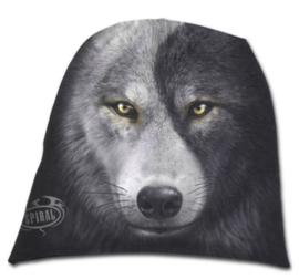 Spiral Direct - Wolf Chi - Yin Yang wolf - katoenen muts - beanie