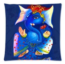 Kussenhoes Ganesha blauw - 45 x 45 cm