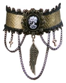 Fantasmagoria Gothic Steampunk Phoenix lace choker