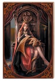 Kunsttegel van Anne stokes - Friends Forever - 20 x 30 cm