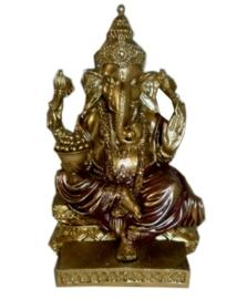 Ganesha rood en goud 14 cm hoog