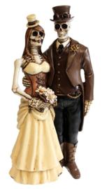 I Do - Gothic horror Steampunk beeld huwelijkspaar - 20.5 cm