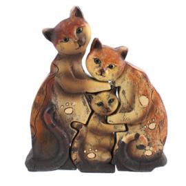 Kattenfamilie - 3 gelinkte beelden