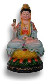 Quan Yin zittend - 17 cm hoog