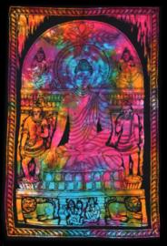 Muurkleed Wandkleed Boeddha gekleurd 2 - 80 x 110 cm