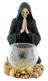 Reaper's Prayer - theelichthouder met Magere Hein - 20 cm hoog