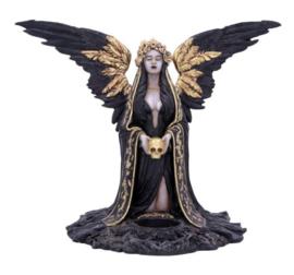 Teresina - Griekse Reaper met Vleugels Theelicht en Doodskop - 28 cm hoog