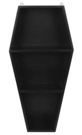 Gothic doodskist display wandplank - 50 x 25 x 12 cm