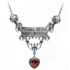 Restyle nekketting retro romantisch vampier - I wanna do bad things with you
