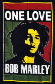 Wandkleed Bob Marley One Love - 80 x 110 cm