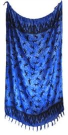 Balinees sarong gekko blauw - 15 x 95 cm