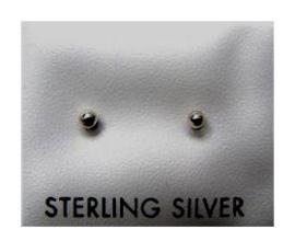 925 zilveren stud oorbellen 3 mm bal