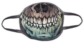 Gezichtsmasker skull mond - 12 x 30 cm
