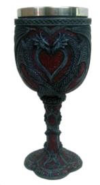 Kelk Loving Dragons - verliefde draken - 18 cm hoog