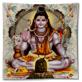 Wandkleed bedsprei grand foulard Zittend Shiva 150 x 150 cm